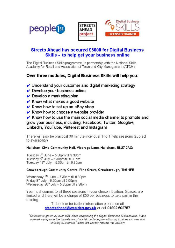 Digital High Street Skills Poster advert (3)
